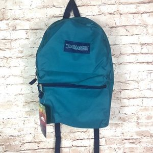 """Turquoise blue classic 17"""" backpack"""